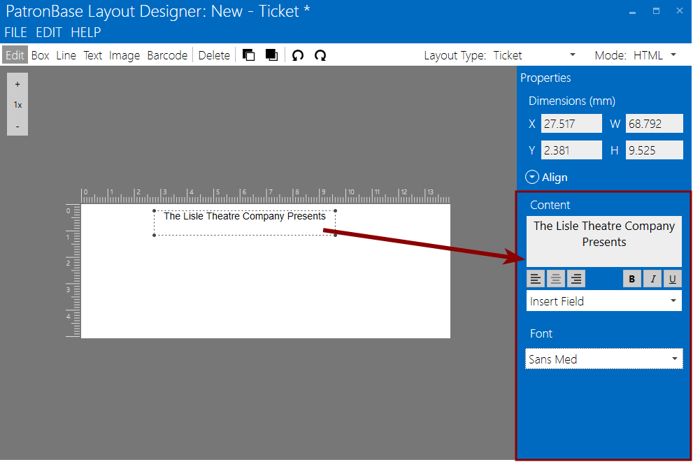 Adding and Working with Layout Elements